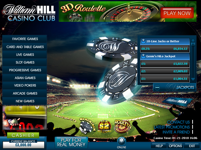 william hill casino club flash