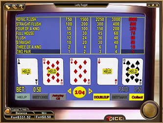 Lucky Nugget Casino Video Poker